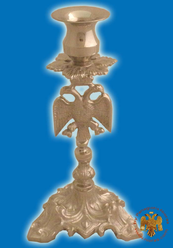 Altar Holy Table Candle Stand Eagle Design Nickel Plated