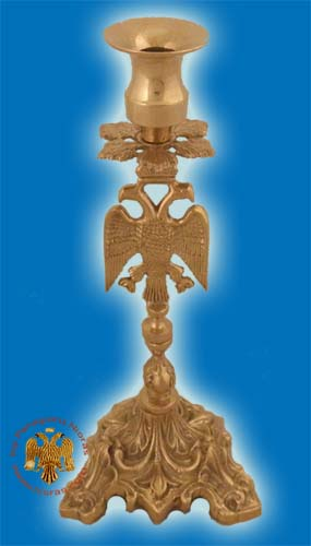 Altar Holy Table Candle Stand Eagle Design Brass Plated