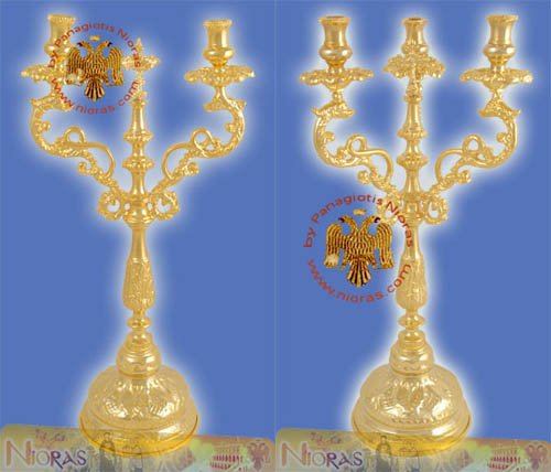 Orthodox Church Dragons Holy Table Candle Stand Set DikeroTrikero 30cm