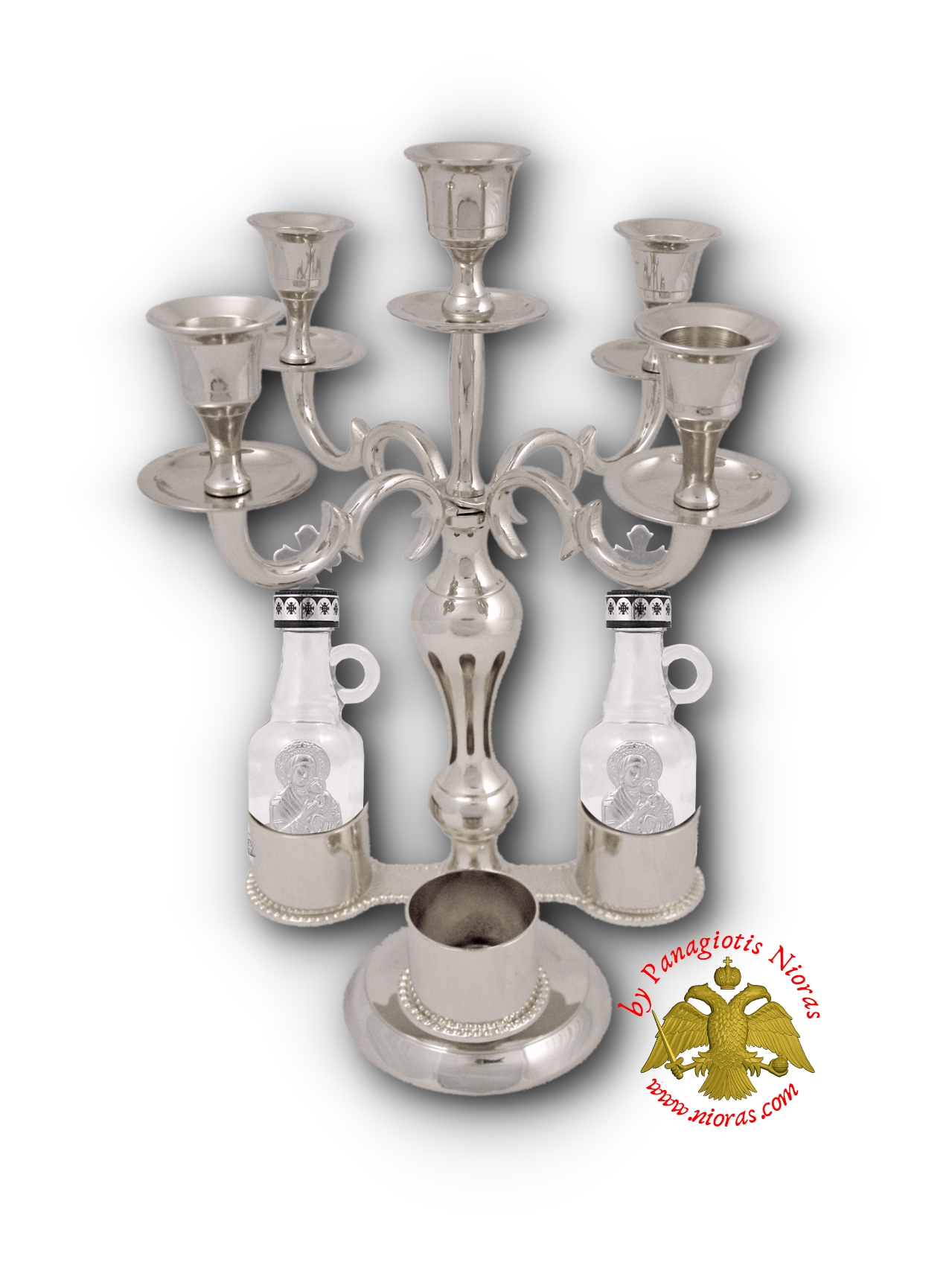 Holy Table Candle Stand for Artoklasia Nickel Plated