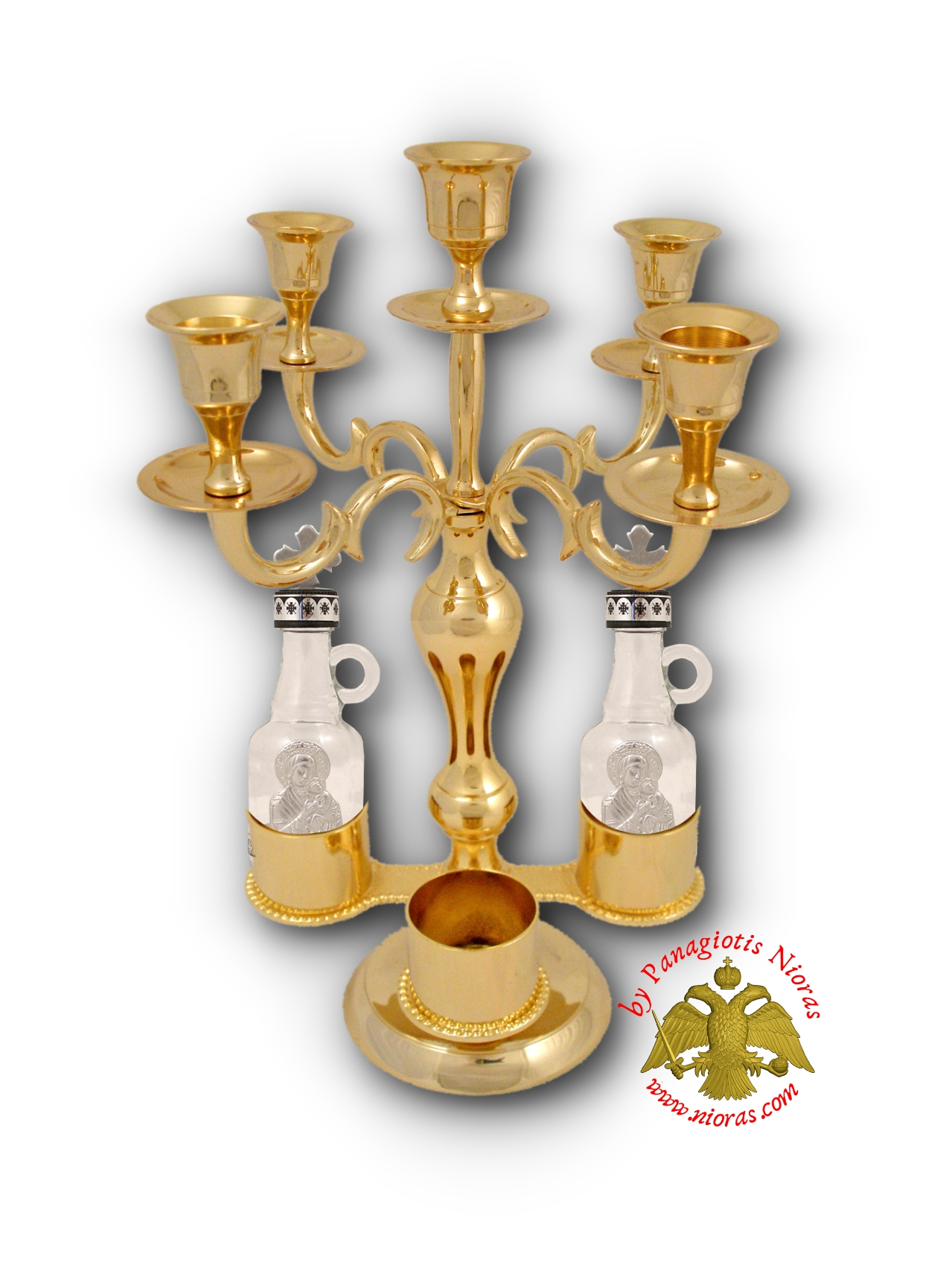 Holy Table Candle Stand for Artoklasia Gold Plated