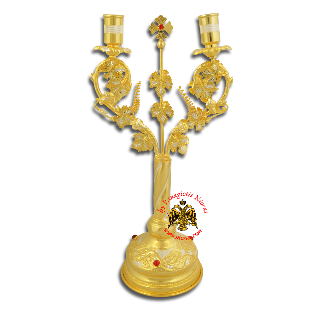 Orthodox Church Grapes Design Candle Stand Dikeron 29cm