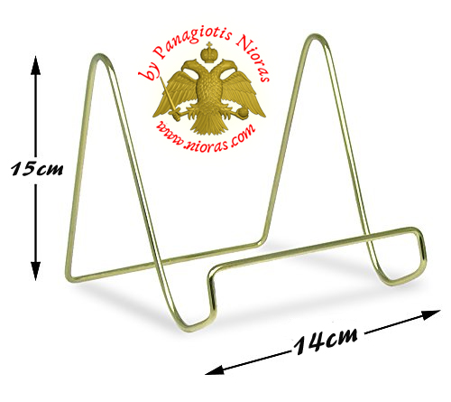 Icon Stand Base Smooth Brass Wire Display Easels A'