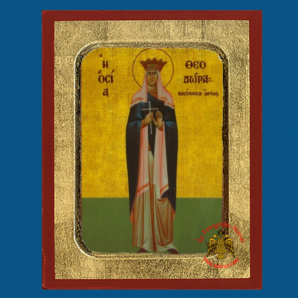 Saint Theodora the Queen of Arta Byzantine Wooden Icon