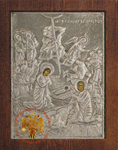 Birth of Christ Silver Plated Icon