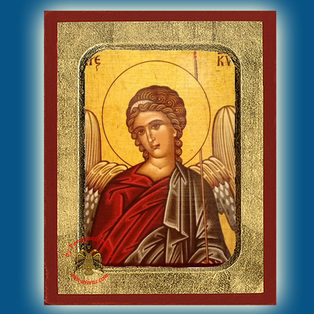Holy Angel of The Lord Byzantine Wooden Icon