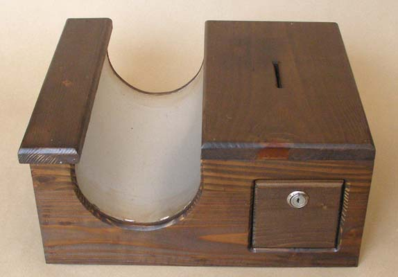 Natural Wood Candle Case 1 with Coin Box