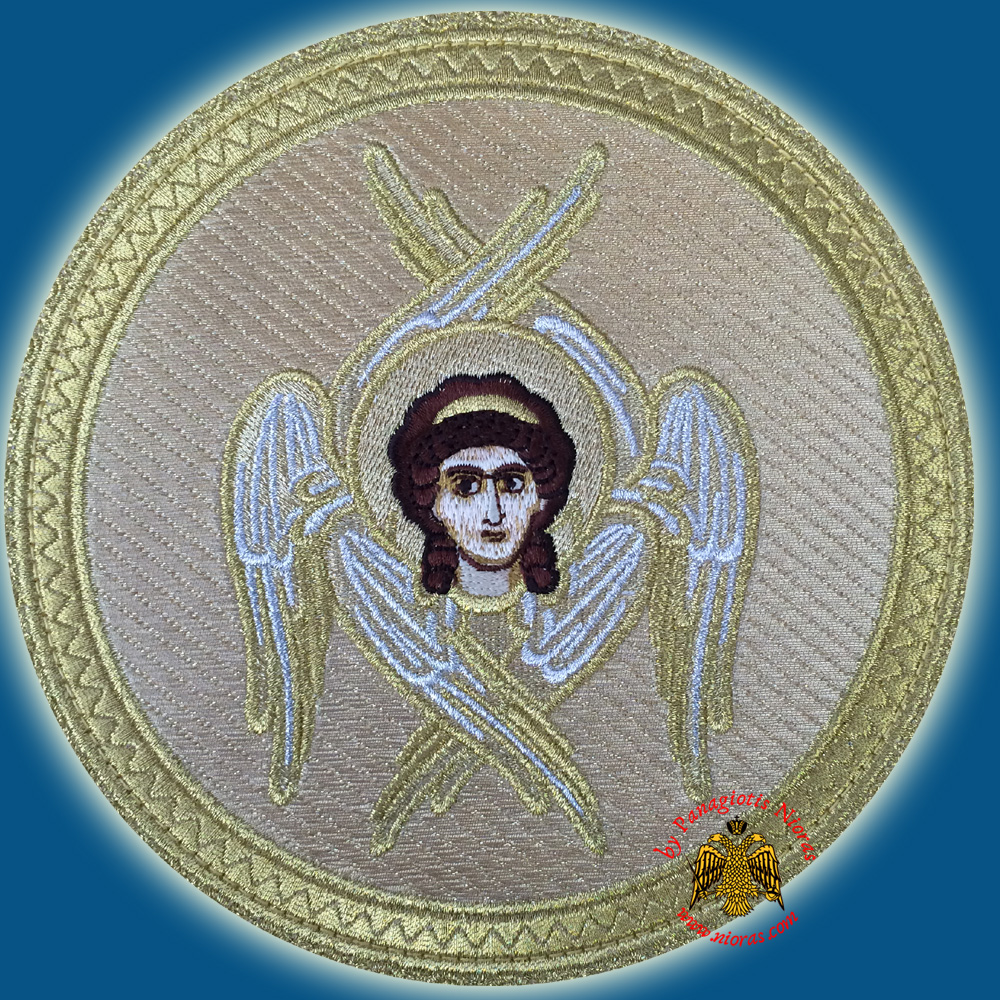 Orthodox Embroidery Simple with Cherubim d:16cm