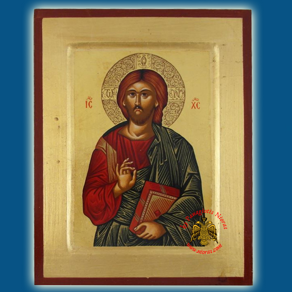Christ Savior Of The World Byzantine Wooden Icon