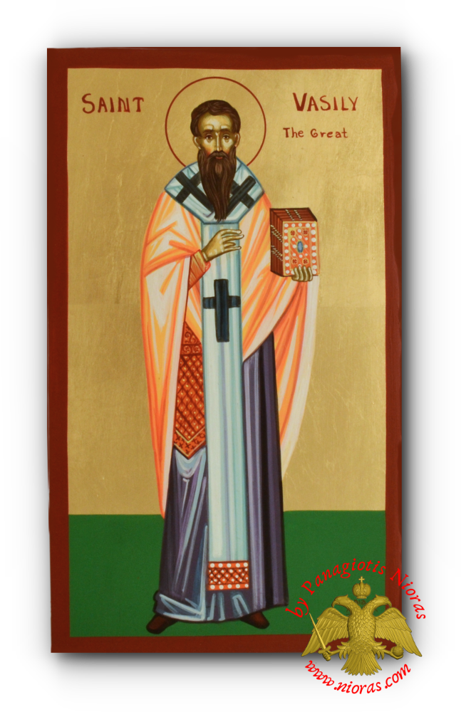 Hand Painted Holy Icon Saint Basil the Great 24x35cm