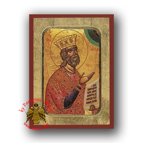 David the Prophet Byzantine Wooden Icon