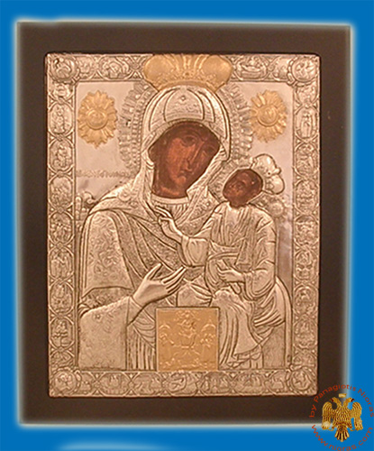 Holy Icon of Ekatontapiliani MDF wooden