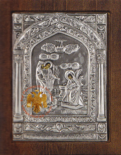 Annunciation Tinos Silver Plated Icon