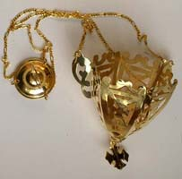 Hanging Vigil Oil Candle Pure Gold Made in Greece