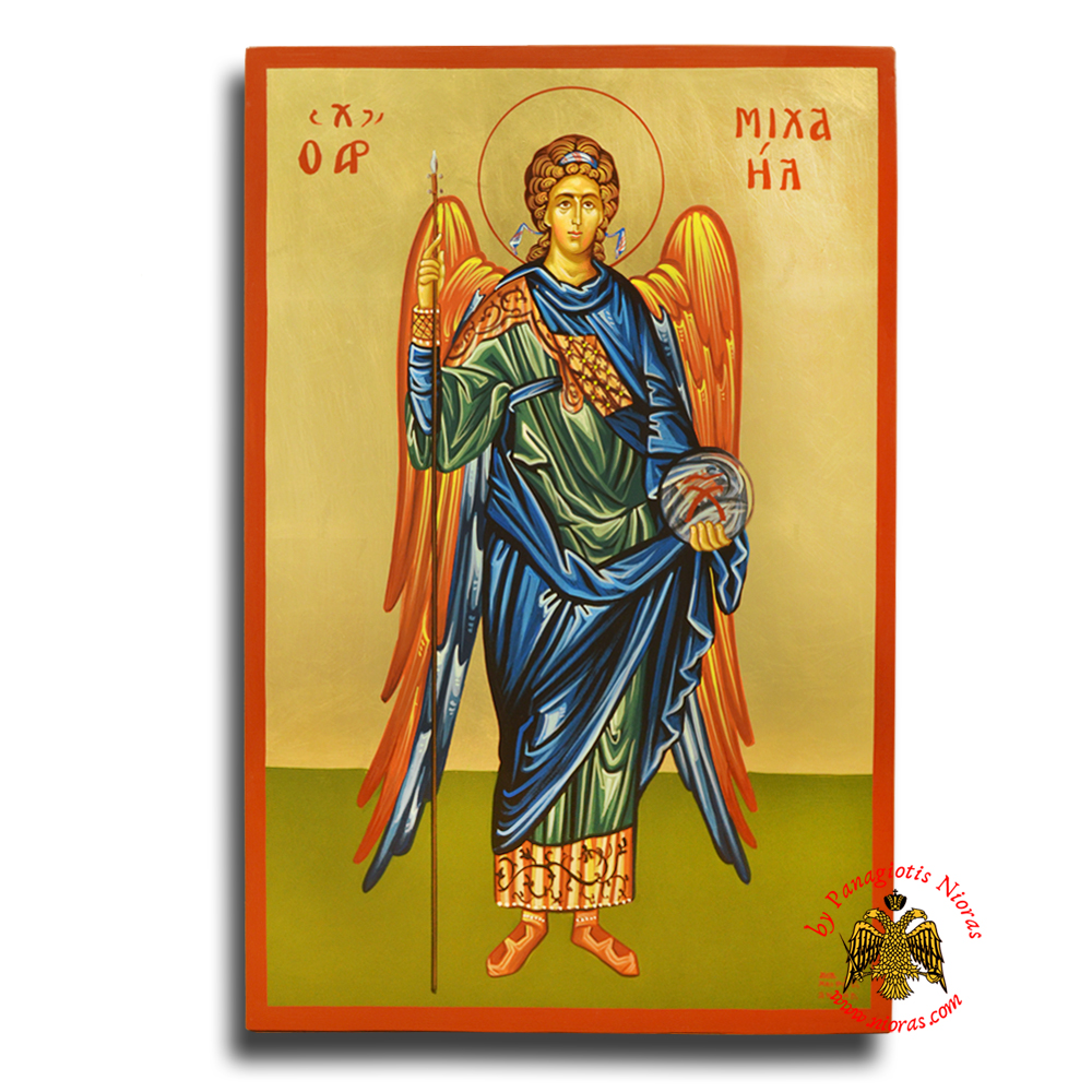 Hagiography Byzantine Hand Painted Icon Archangel Michael 40x60cm <b>Special Order Request </b>