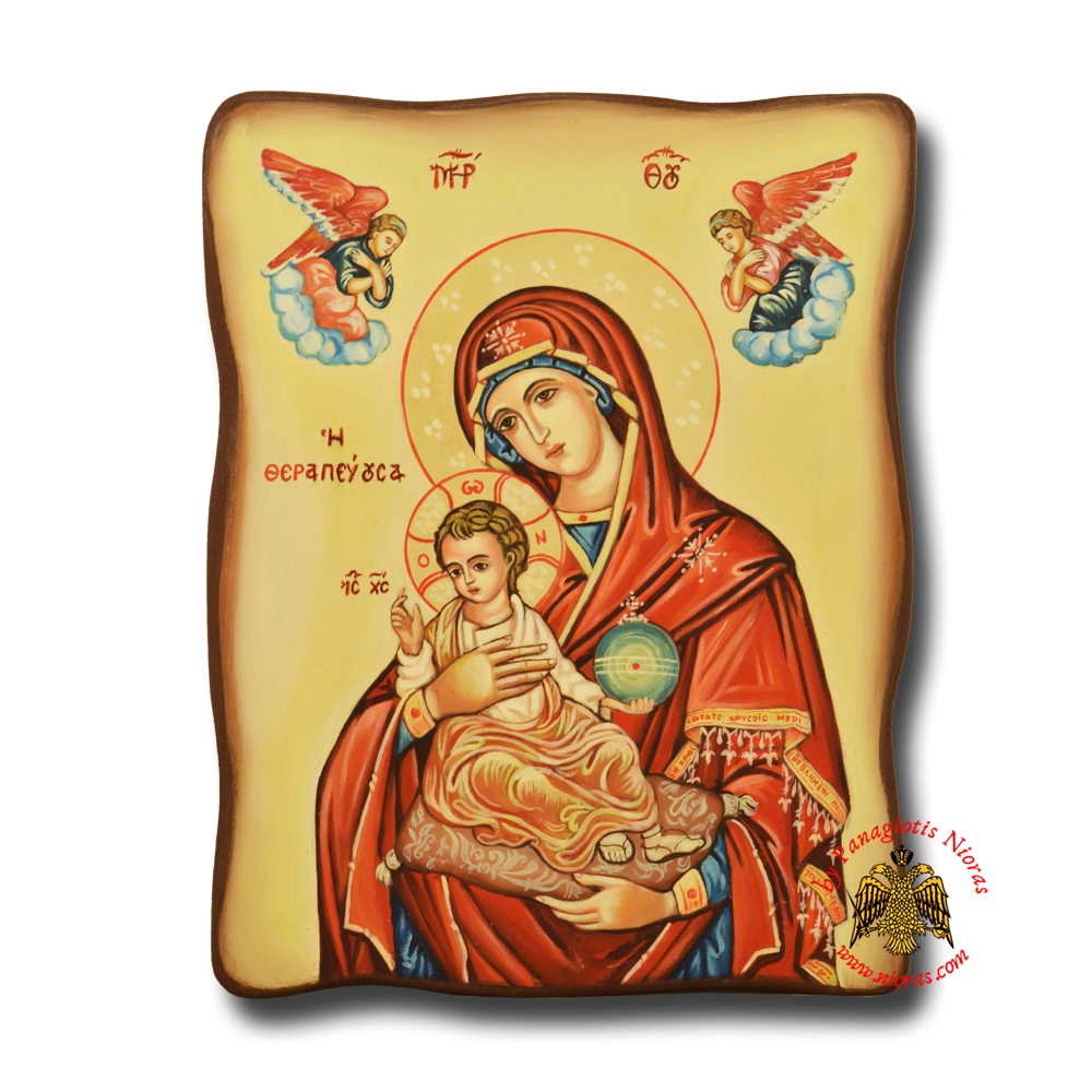 Hagiography Byzantine Hand Painted Icon Holy Virgin Mary Theotokos Healing <b> Special Order Request </b>