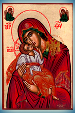 Hand Made Icons of Holy Virgin Mary