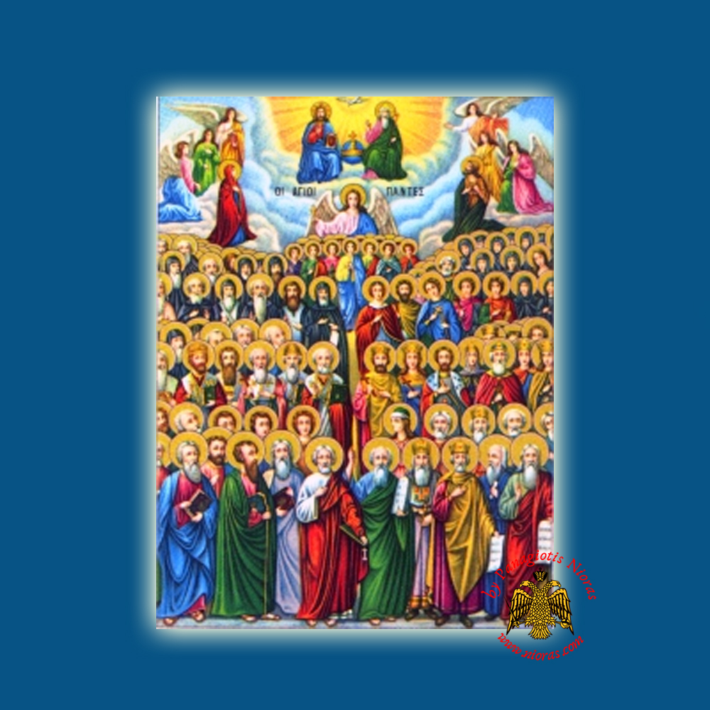 Holy Wooden Icon of All Saints Classic Style
