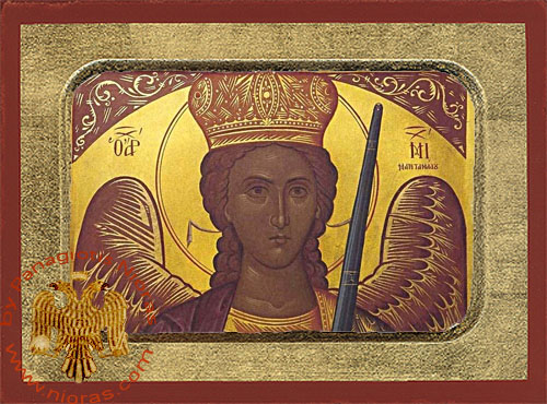 Archangel Michael of Mantamados Original Painting