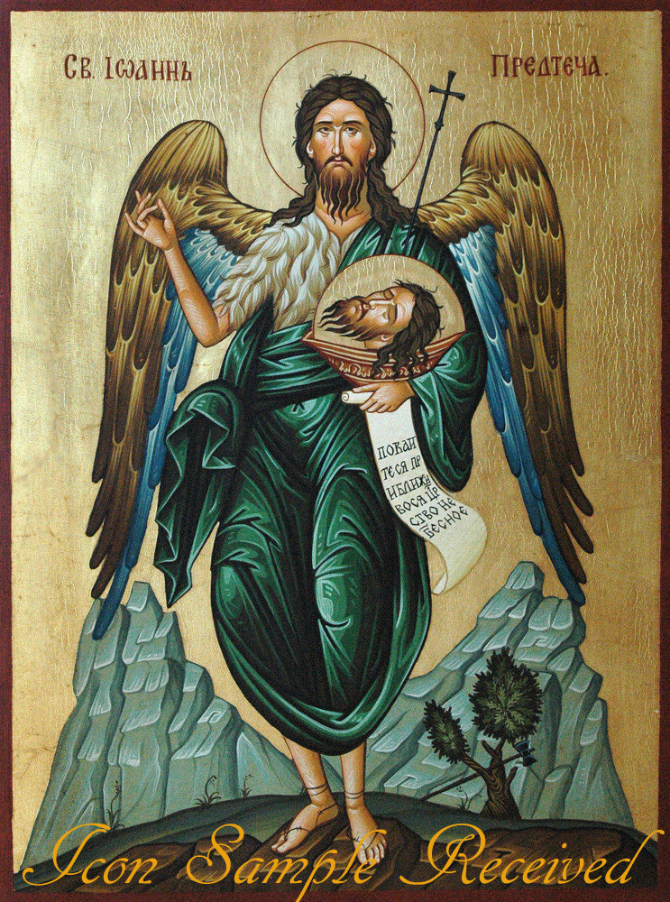 iconostasis hagiography icon of saint john the baptist for church iconostasis
