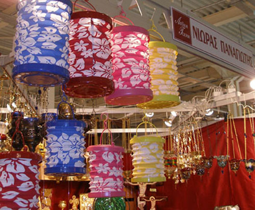 Collapsible Cloth Lanterns (Exhibition Laiki Texni 2009).