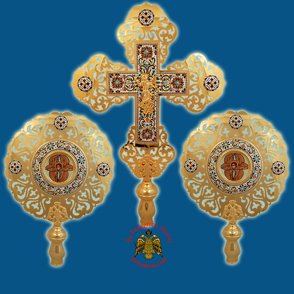 Ecclesiastical Exapterigon with Enamel A1' Set of 3