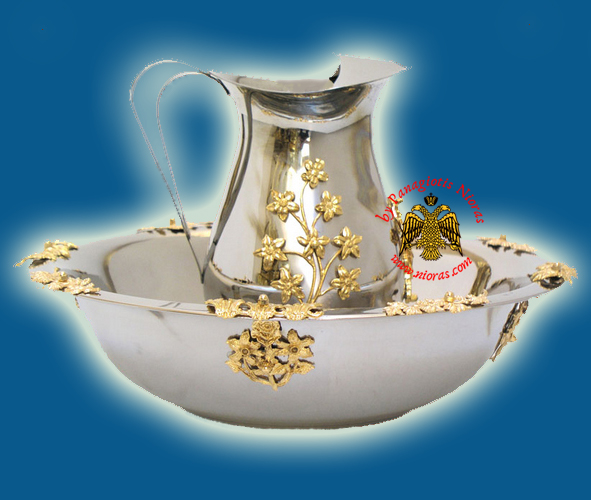 Hernivoxeston Orthodox Church Pitcher B' Inox with Gold Plated Details