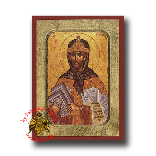 Moses the Prophet Byzantine Wooden Icon