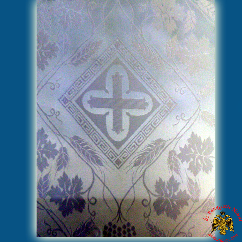 Orthodox Clerics Vestment White Fabric With White Cross Details No.104