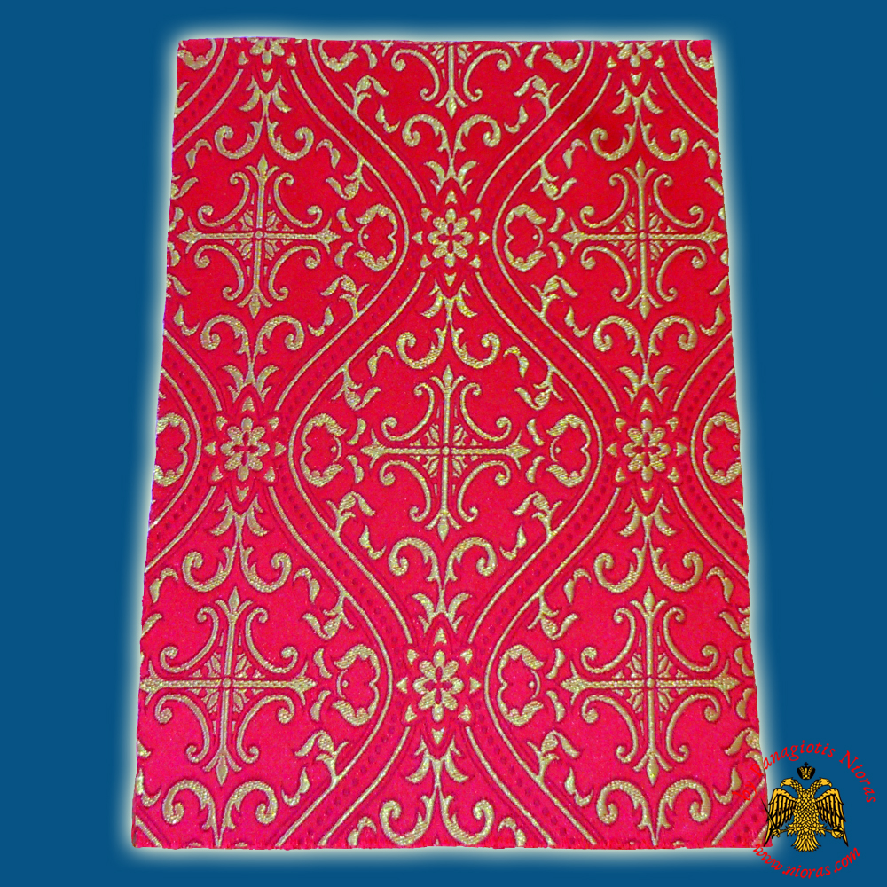 Orthodox Clerics Vestment Red Fabric With Shaped Cross No.6625