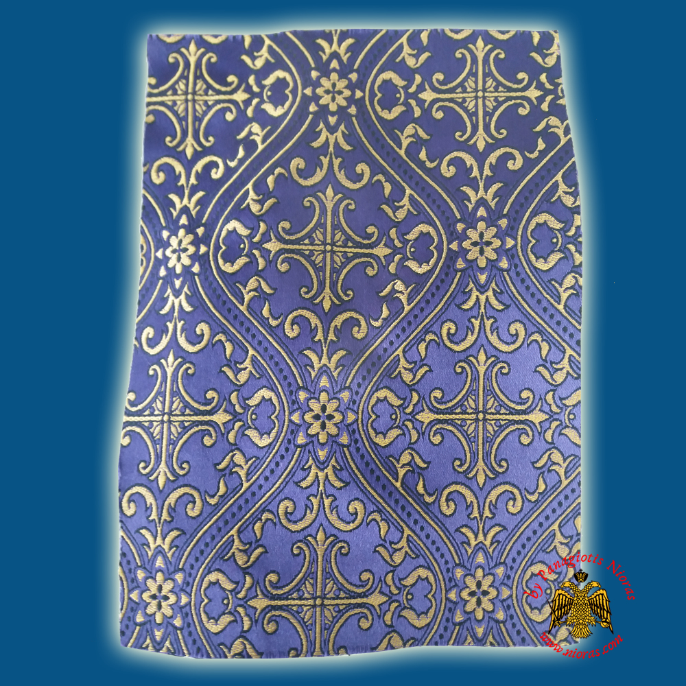Orthodox Clerics Vestment Purple Fabric With Golden Cross and Black Details C' No.6625