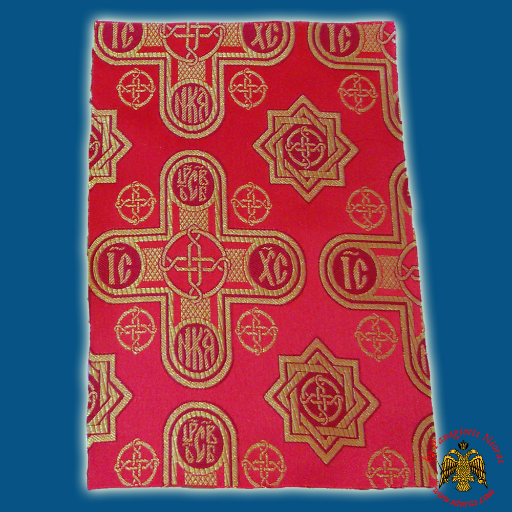Orthodox Clerics Vestment Red Fabric With Crosses ICXC No.6647