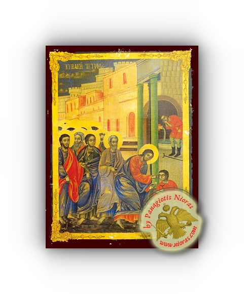 Sunday of the Blind Man - Neoclassical Wooden Holy Icon