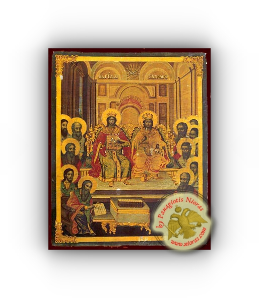 Seventh Holy Ecumenical Council, at Nice of Bithynia - Neoclassical Wooden Holy Icon