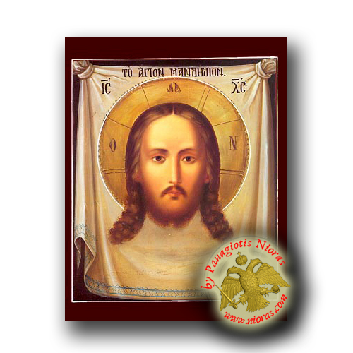 Christ the Holy Napkin ICXC - Neoclassical Wooden Icon