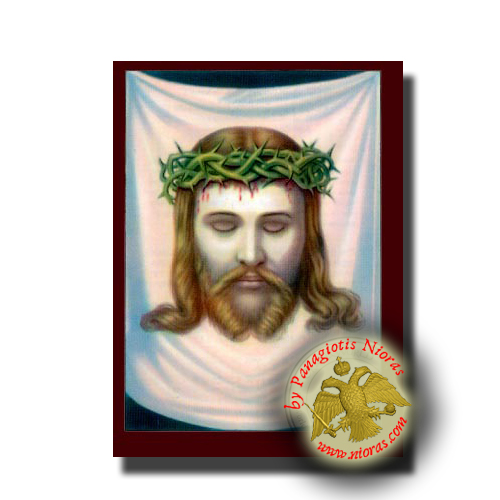 Christ the Holy Napkin Crown of Thorns - Neoclassical Wooden Icon
