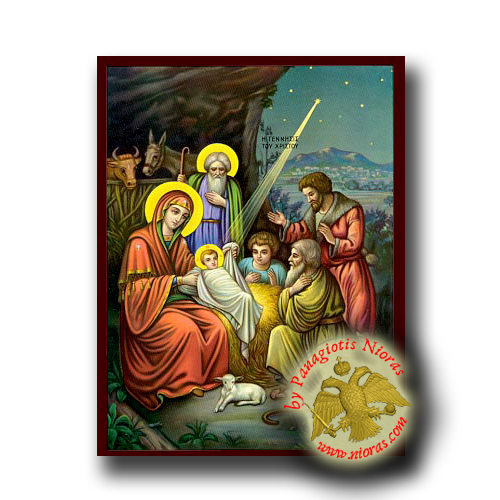 The Nativity of Christ - Neoclassical Wooden Icon
