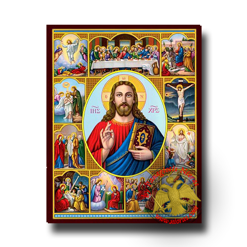 Christ Life Images -Neoclassical Wooden Icon