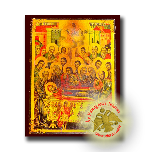 The Dormition of Theotokos - Neoclassical Wooden Icon