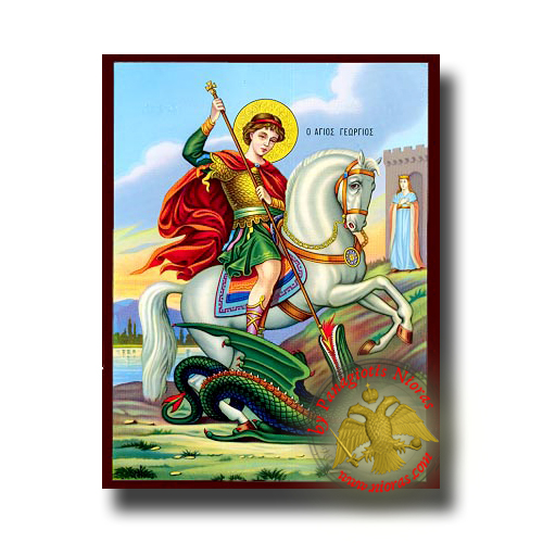 Saint George - Neoclassical Wooden Icon