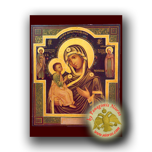 Theotokos of Jerusalem - Neoclassical Wooden Icon