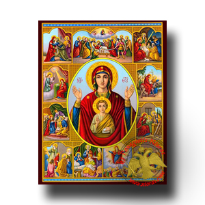Neoclassical Icons of Theotokos