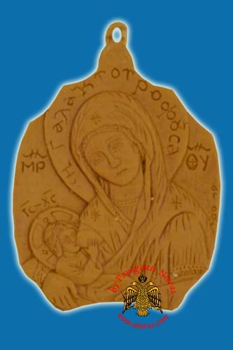 Icon from BeeWax Panagia Galaktotrofousa