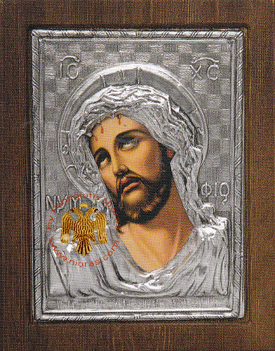 Christ the Bridegroom Silver Plated Icon