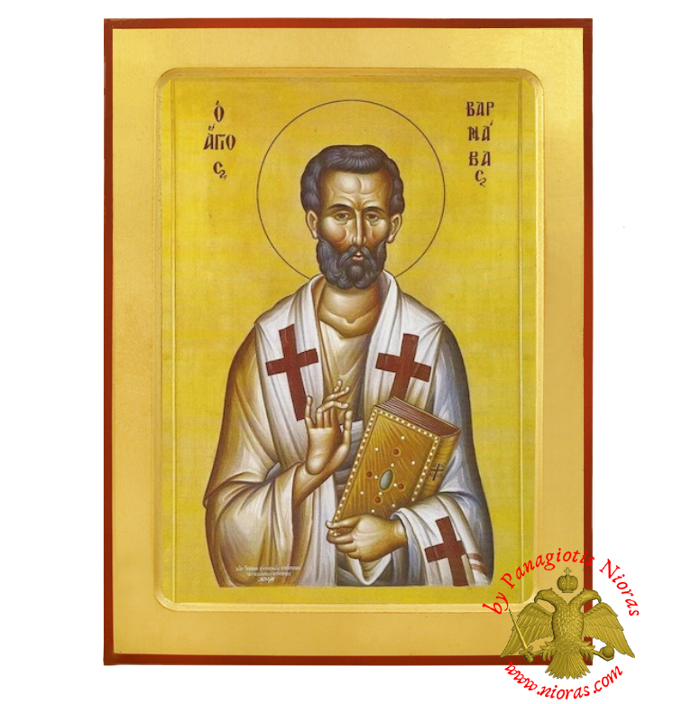 Saint Barnabas the Apostle Orthodox Byzantine Wooden Icon