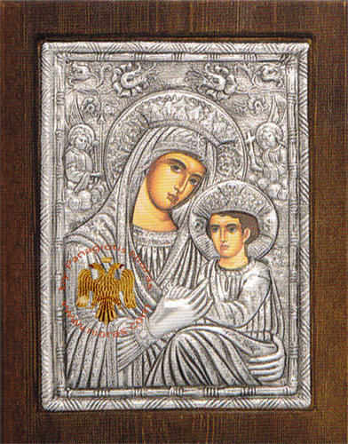 Theotokos Panagia Rebirth Silver Plated Icon