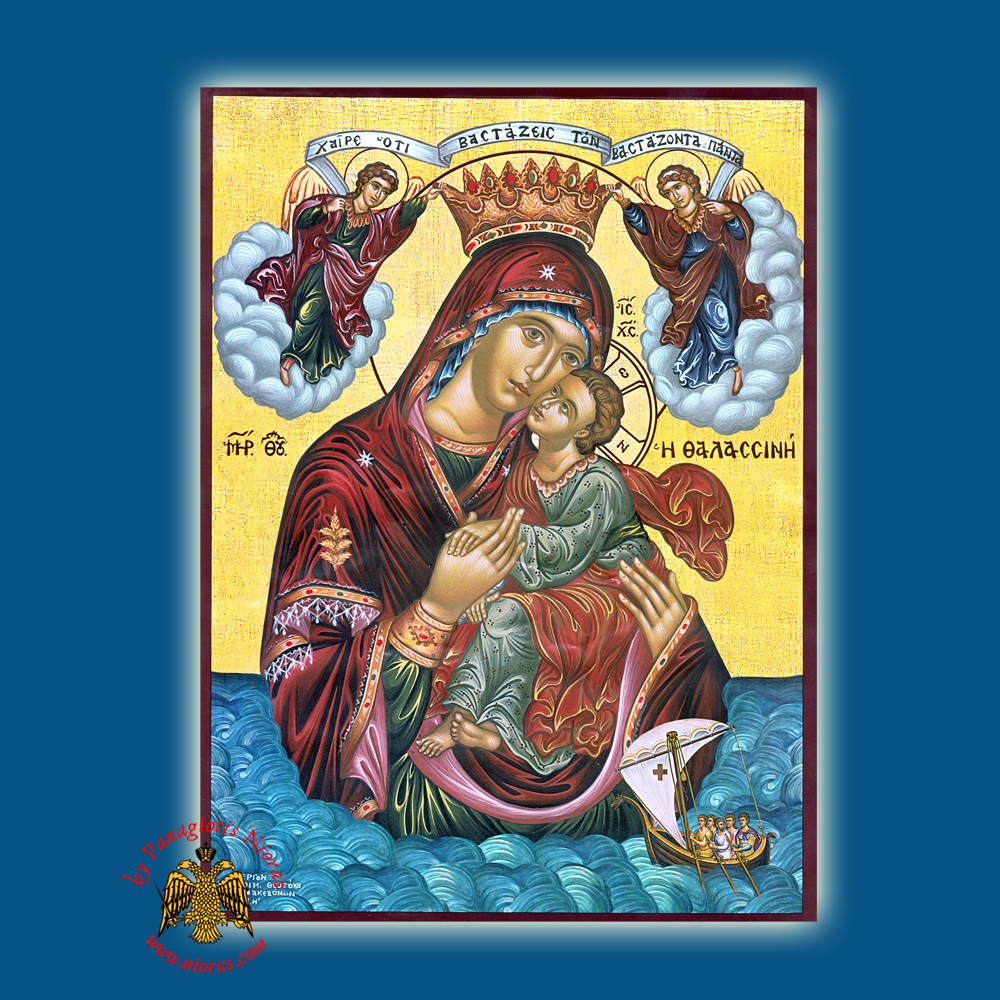 Panagia Thalassini Byzantine Wooden Icon
