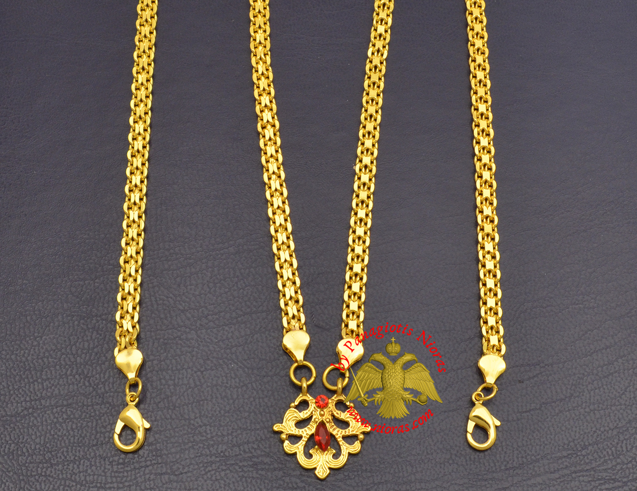 Metal Chain for Orthodox Engolpion or Pectoral Cross Gold Plated 120 cm D'