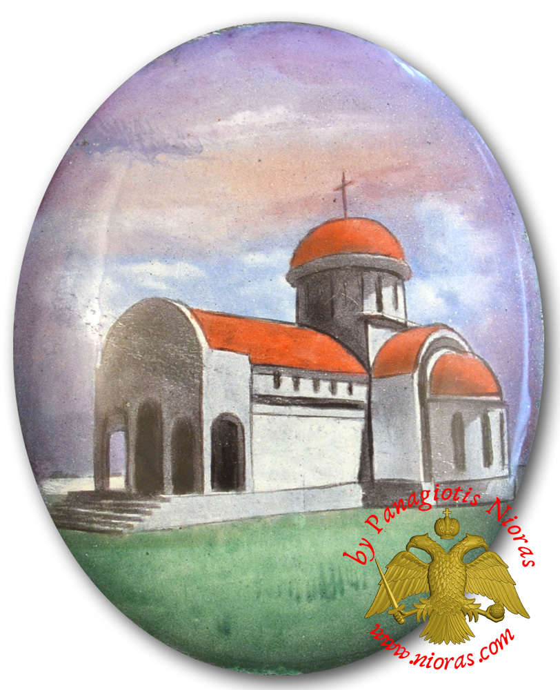 Orthodox Church Hand Painted Enamel Icon C 4x5cm