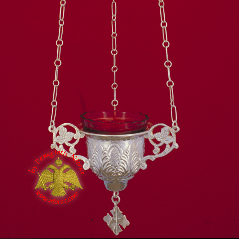 Byzantine Style No.0 Silver Sterling 925 Hanging Oil Candle
